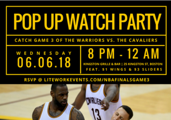 NBA Finals Pop Up Watch Party – Wednesday, June 6, 2018