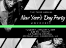#NYD2019 The 3rd Annual New Year's Day Party – Tuesday, January 1, 2019